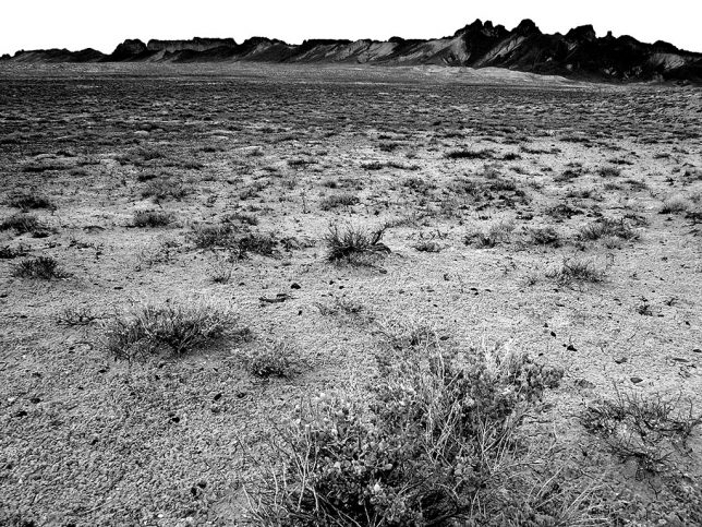 The open desert around Shiprock is also very compelling, as in this image as I egressed from the feature.
