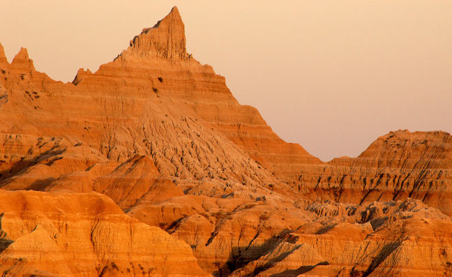 Peak at Sunset, Badlands