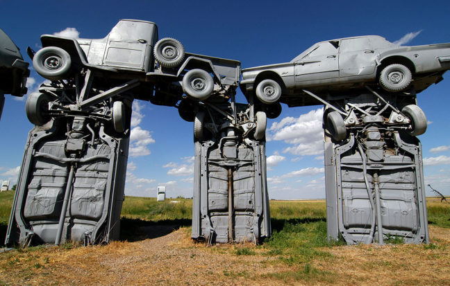 Our second day on the road included the elaborate and fascinating Carhenge near Alliance, Nebraska.