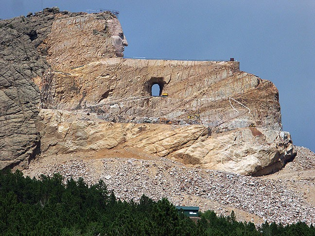 We photographed Crazy Horse Memorial in the afternoon. In addition to the memorial, it was my impression that the entire complex had been turned into a pricy tourist attraction.