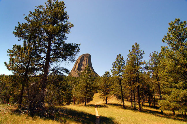 Devils Tower, Wyoming, Viewed from the Red Beds Trail