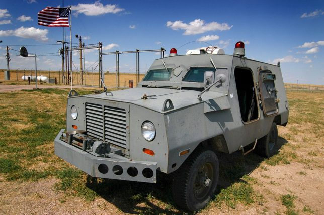 On display outside the launch control facility is this armored car, which rangers told us was despised by Air Force personnel for being under powered, crowded, and rough-riding.