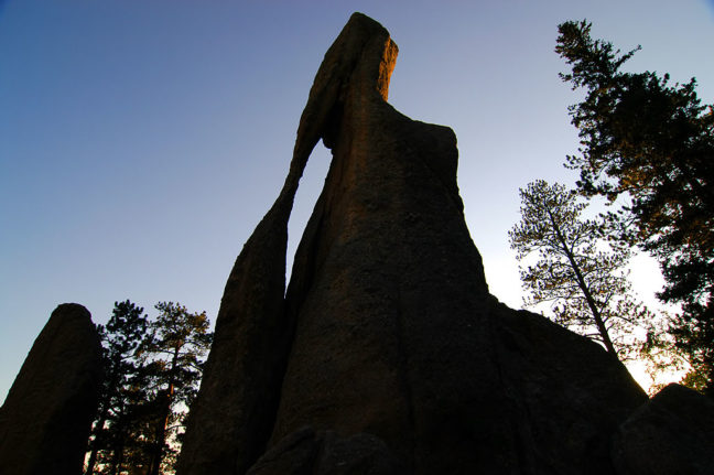 The Eye of the Needle on the Needles Highway, is a signature formation at Custer State Park.