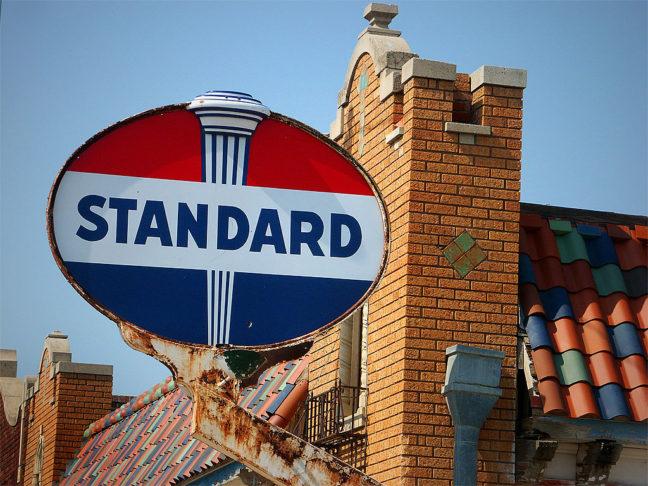 We spotted this handsome Standard Oil sign in Nebraska