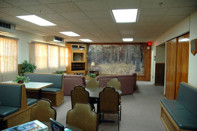 The above-ground residence area of the Minuteman Missile National Historic Site is a very straightforward office/living room.