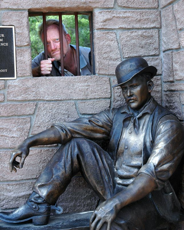 Abby made this image of me at the bronze statue of The Sundance Kid.