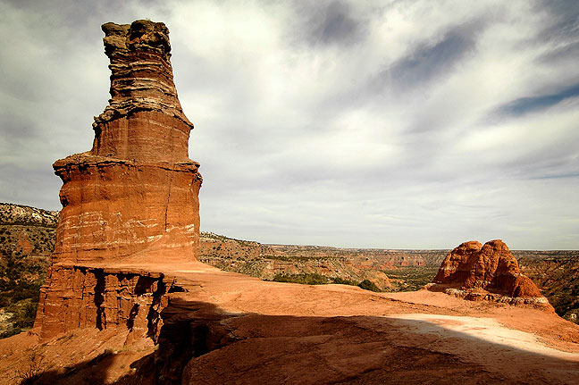 The LIghthouse, a signature hoodoo at Palo Duro Canyon