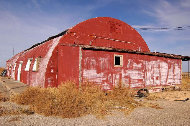 Abandoned Quonset Hut, Interstate 40, Groom, Texas