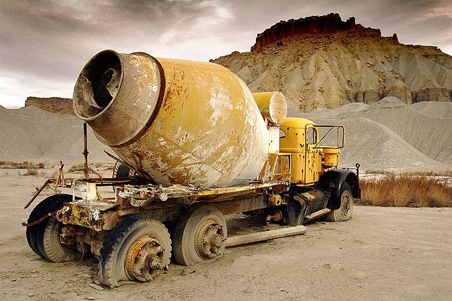 Abandoned cement mixer, Utah highway 24