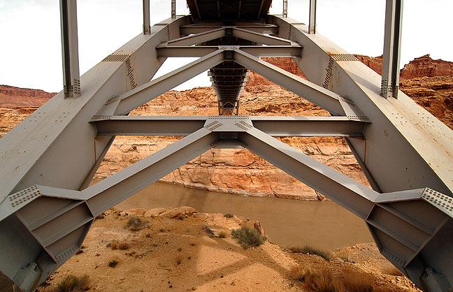 Highway 95 took me across the Colorado River on this elegant steel bridge.