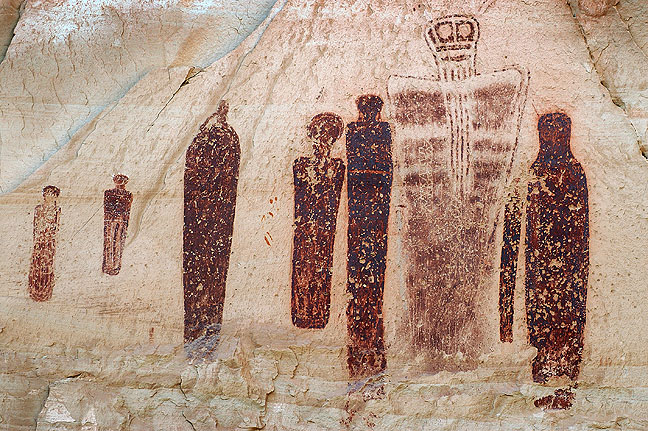 Central figures of the Great Gallery, Canyonlands National Park