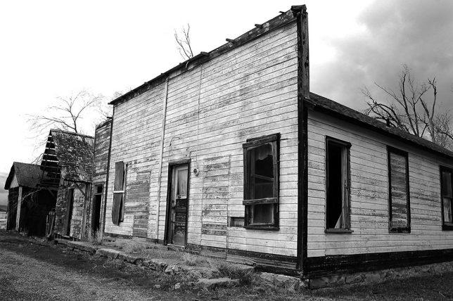 Thompson Springs, Utah, was largely abandoned.