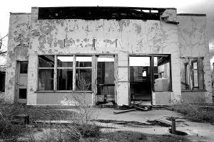 Thompson Springs, Utah, is verging on being a ghost town. Most of the structures I saw there were like this.