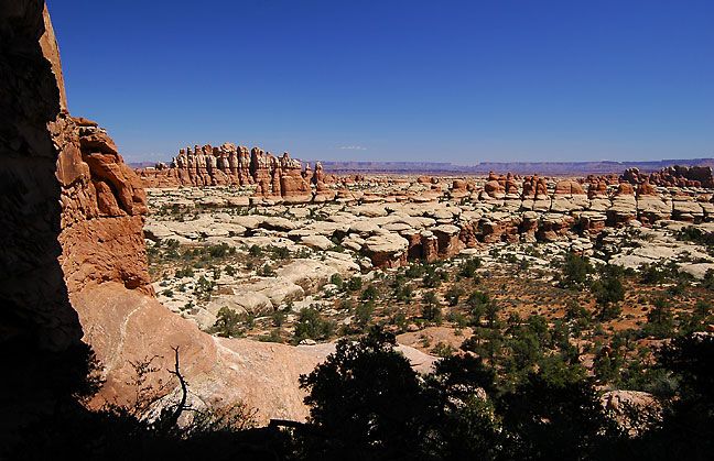 Looking north from Chesler Park, Canyonlands.