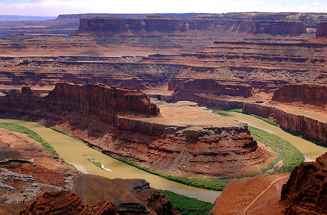 This is the standard view from Dead Horse Point, which I shoot every time I visit because it is quite spectacular. Photographs of it are sometimes misrepresented as being of the Grand Canyon.