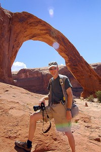Your host poses at Corona Arch.