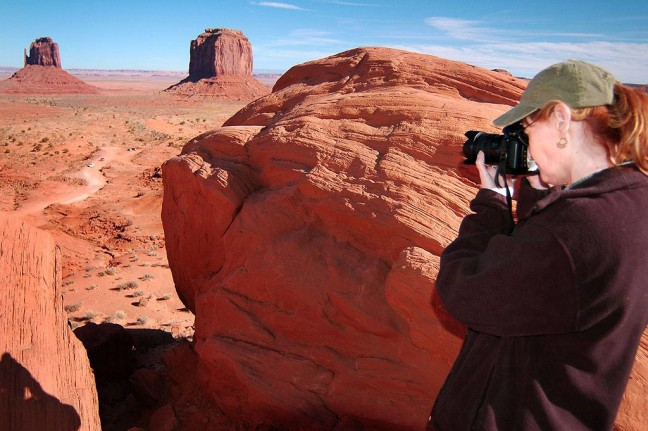 Abby photographs Monument Valley.