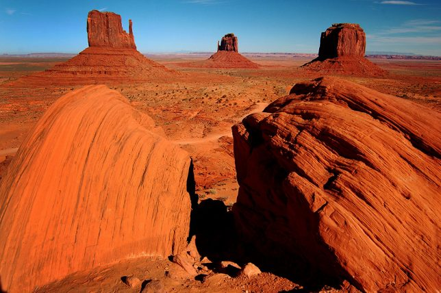 The Mittens Overlook is a classic, if often over-visited, signature attraction at Monument Valley. Part of the reason I wanted to photograph it is that Ansel Adams photographed it from this exact spot nearly 60 years earlier.