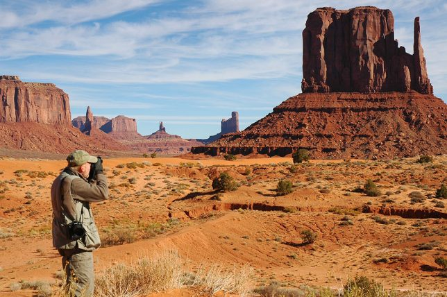Photographing Monument Valley was cold enough that I needed gloves and a fleece pullover, and Abby wore her warmest coat.