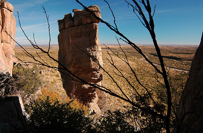 This pillar of stone is a short distance from the Permian Reef trail head.
