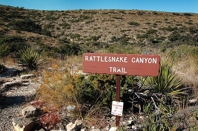 Trail head, Rattlesnake Canyon, Carlsbad Caverns National Park