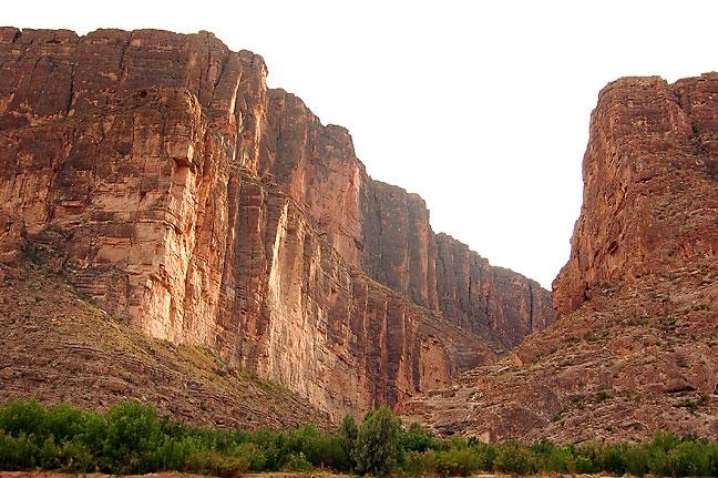 Cliffs at the mouth of Santa Elena Canyon.