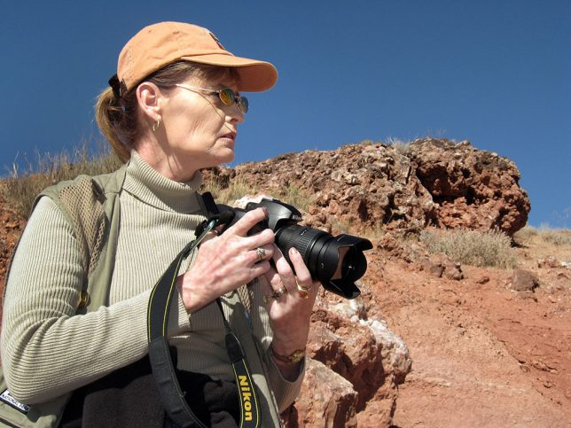 Abby has a very serious look on her face as she scopes out our next steps on the Delicate Arch trail.