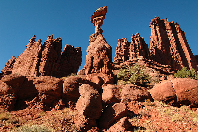 "This Fisher Towers formation was known as ""The Cobra."" It collapsed in July 2014."
