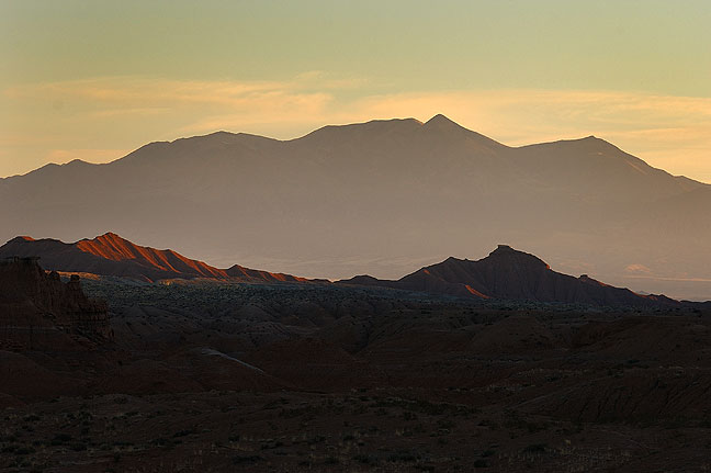 Henry Mountains from Goblin Valley.