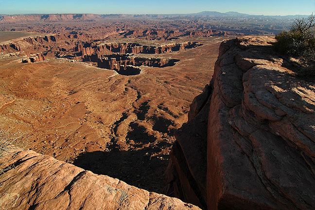 Grand View Point trail, Canyonlands.