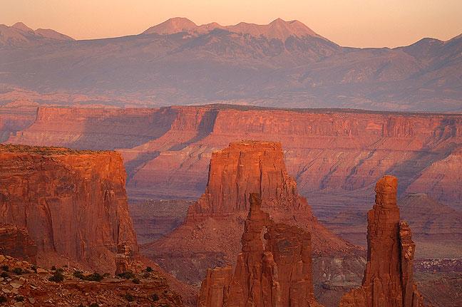 Sunset, Canyonlands National Park, Utah.