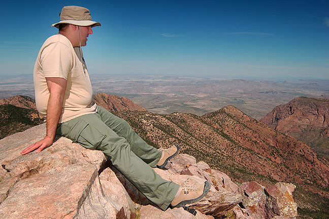 David takes in the view from Emory Peak, the high point of Big Bend