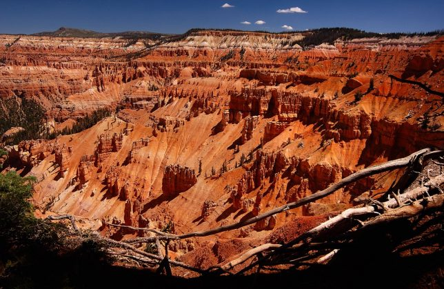 Cedar Breaks is above 10,000 in elevation, and the air is dry and clear, and the sky is deep blue.