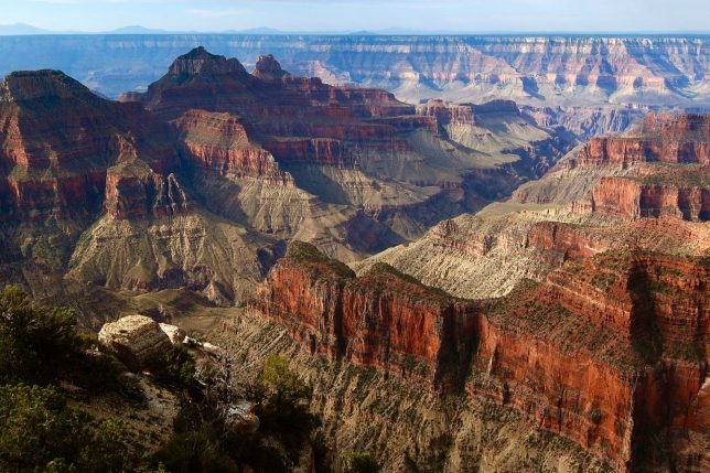 The Grand Canyon is really hundreds of canyons feeding into the Colorado River a mile below.