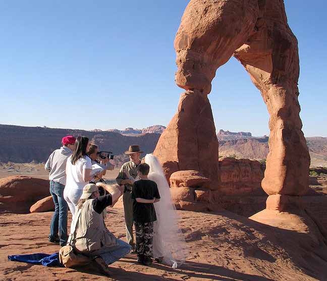 Richard and Abby get married at Delicate Arch, October 2004.
