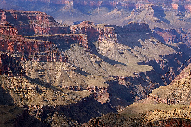 Grand Canyon National Park from Bright Angel Point, north rim, morning.