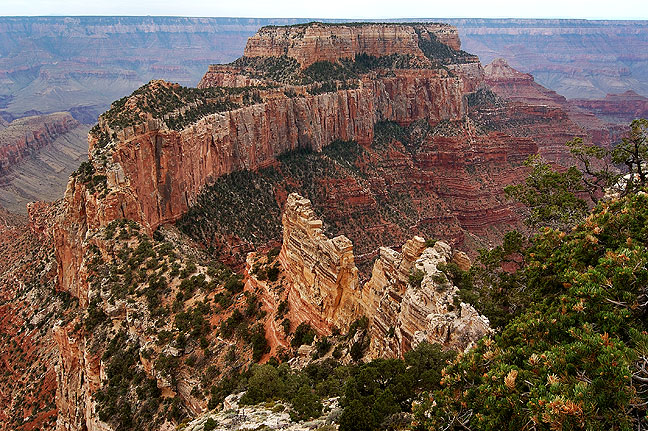 Grand Canyon National Park from Point Imperial, north rim, with Marble Canyon in the distance.