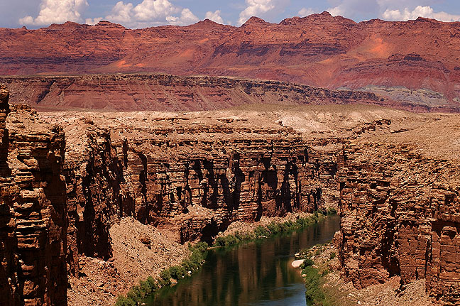 Marble Canyon and Vermilion Cliffs from Navajo Bridge, Arizona.