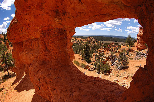 Small natural arch, Red Canyon, Utah.