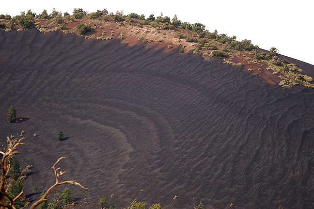 Cinder slope, Sunset Crater.