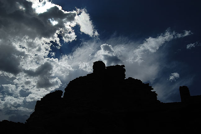 Clouds and ruins, Wupatki.