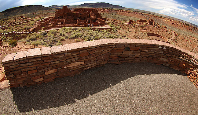 Wall and ruins, Wupatki National Monument, Arizona.