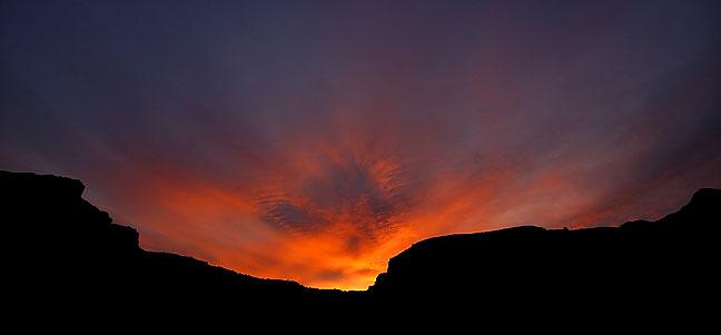 Sunset, Castle Valley, near Moab, Utah.