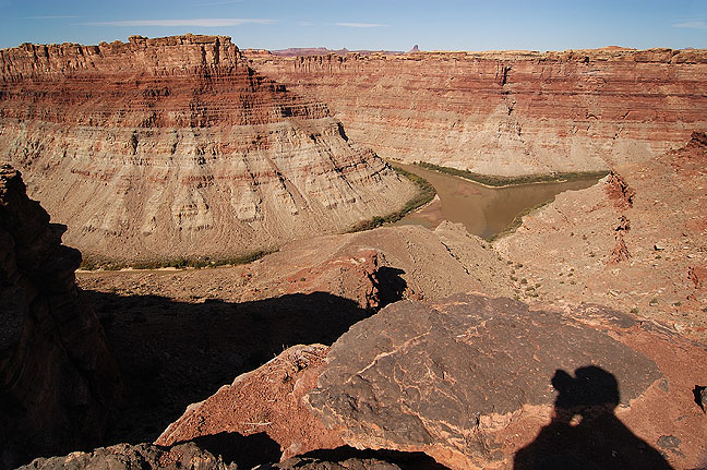 Confluence of the Green River and Colorado River, Needles district, Canyonlands National Park, Utah.