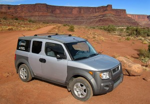 The Honda Element on the White Rim Road