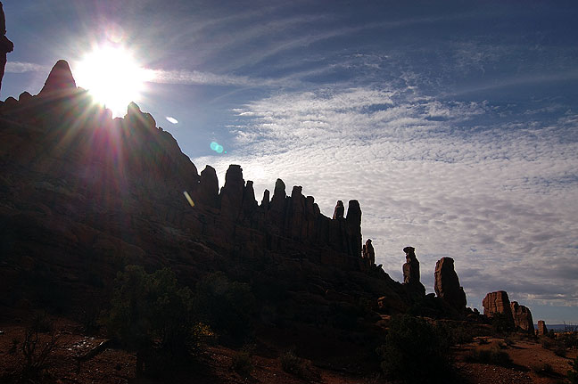 The Marching Men, Klondike Bluffs, Arches National Park.