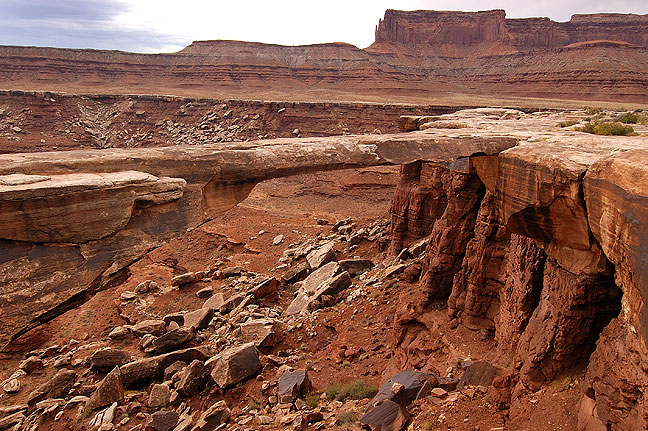 Musselman Arch, White Rim Road, Island in the Sky district, Canyonlands National Park, Utah.