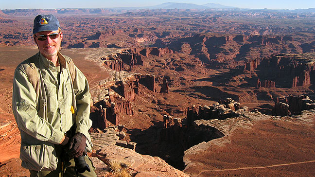 At the White Rim Overlook, Canyonlands