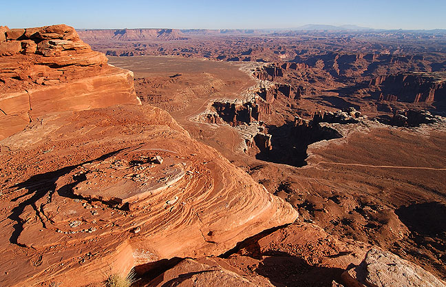 View from the White Rim Overlook, Canyonlands.