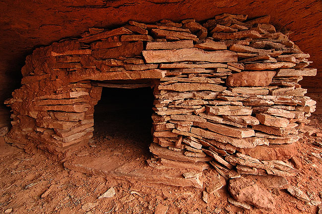 Ancestral granary, Wilhite trail, Canyonlands.